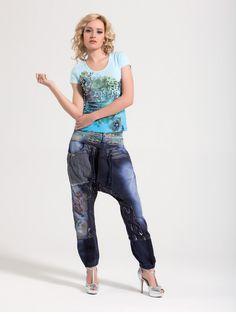 Awesome harem pants with lovely details! Street wear. www.cladu.fi