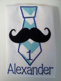 Personalized Tie Mustache 1st Birthday Onesie or by babymodern, $22.95