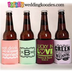 Our low price custom #wedding #koozies are the perfect wedding favors for your big day!