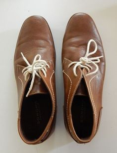 Mens Size 12 Low Cut Boots Dress Shoes Vegan Sonoma Brown Manmade Lace Up  #Sonoma #LowCutBoot