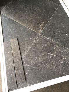 Kronos blautech hardsteen look 80x80 cm oud donker