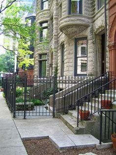 chicago brownstones by jgkr photos, via Flickr