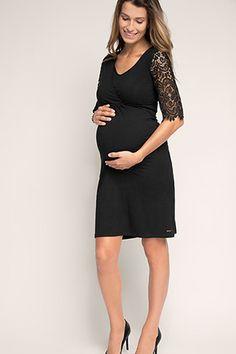 Esprit / Jersey-Spitzen-Kleid mit Stillfunktion