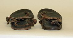 Sandals  Fred Braun  (American)    Date:      1959  Culture:      American  Medium:      leather  Dimensions:      Heel to Toe: 9 3/4 in. (24.8 cm)  Credit Line:      Gift of Fred Braun Inc., 1973  Accession Number:      1973.219.3a, b