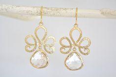Gold Earrings Drop Earrings Dangle earrings by AvaHopeDesigns, 30.00