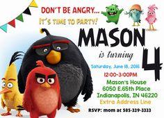 Angry Birds Invite Angry Birds Invitation por PrintableSolution