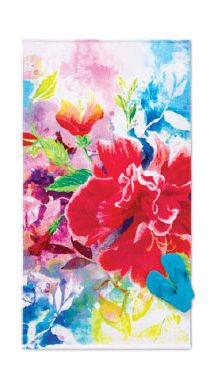 Discover the inspiration behind this floral towel.