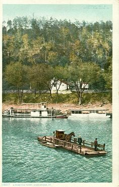 The original ferry crossing the Kentucky River from Lexington to Richmond… My Old Kentucky Home, Kentucky Derby, Richmond Kentucky, Old Pictures, Old Photos, Kentucky Attractions, Ohio River, Places Of Interest, Winchester
