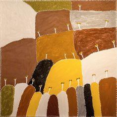 Patrick Mung Mung - Ngarrgooroon country - 120 x 120 http://www.aboriginalsignature.com/art-aborigene-warmun-1/patrick-mung-mung-ngarrgooroon-120x120