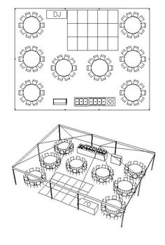 Awesome diagrams for party table arranging and how may