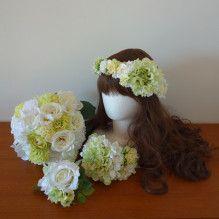 お色直し用の白&グリーンアイテムセット☆ | Ordermade Wedding Flower Item MY FLOWER ♪ まゆこのブログ