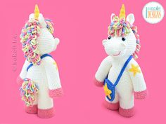 Sophia The Starry Unicorn Big Amigurumi PDF Crochet Pattern With Instant Download by IraRott