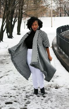 Plus Size Fashion for Women - Kelly Augustine: Winter Cape