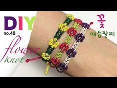 꽃 매듭팔찌 만들기 마크라메 플라워팔찌 실팔찌만들기 Macrame Flower Bracelet Sodiy 48 Youtube 2020 실 팔찌 만들기 매듭 팔찌 만들기 매듭 팔찌