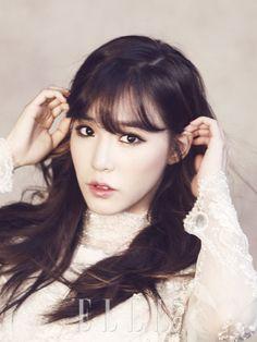 Beautiful makeup Tiffany Hwang of Girl's Generation (SNSD) Korean american Girl for Ceci Magazine