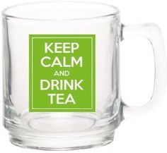 """ON SALE! This Glass Mugs is great for drinking tea. The mug have an elegant translucent design that looks great with the novel saying """"Keep Calm and Drink Tea"""" printed on both sides . This Tea mugs stand out in the office and even at home because of their unique nature and beautiful design Available on http://www.amazon.com/s?marketplaceID=ATVPDKIKX0DER&me=A3NHPTQ53X8ITQ&merchant=A3NHPTQ53X8ITQ&redirect=true"""