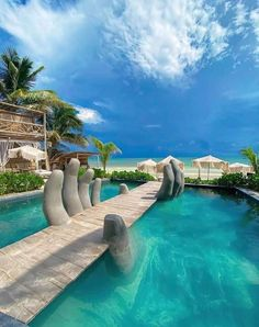 Tulum Hotels, Hotels And Resorts, Best Hotels, Tulum Mexico, Beach Club, Beautiful Pools, Beautiful Places, Beautiful Ocean, Amazing Places
