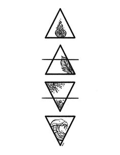 Haut Tattoo, Simbolos Tattoo, Dreieckiges Tattoos, Symbol Tattoos, Mini Tattoos, Body Art Tattoos, Tatoos, Glyph Tattoo, Four Elements Tattoo