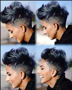 45 Best Short Hair Styles for Thick Hair 2019 – Styles Art - Short Hairstyles: Best Short Hair Cuts & Styles 2019 Short Hairstyles For Thick Hair, Haircut For Thick Hair, Short Pixie Haircuts, Short Hair Cuts For Women, Pixie Hairstyles, Celebrity Hairstyles, Trendy Hairstyles, Undercut Short Hair, Thick Haircuts