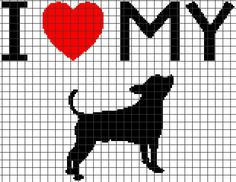 I Love My Chihuahua - Crochet Pattern (Chart/Graph AND Row-by-Row Written Instructions) - 02