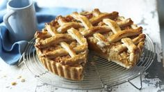 Treacle tart is made with golden syrup, breadcrumbs and lemon to cut through the sweetness. Serve with crème fraiche.