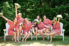 Bridesmaid Robes/ Wedding Party Gift// Bridesmaids Gift/ Bridal Party Robes/ Set of 5 Robes Bridal Party Robes, Gifts For Wedding Party, Bridal Gifts, Bridesmaid Robes, Floral Bridesmaids, Free Monogram, S Girls, Groomsman Gifts, Wedding Photos