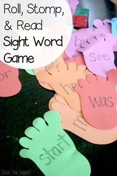 Fun hands-on game to get kiddos moving and reading sight words! Teaching Sight Words, Sight Word Practice, Sight Word Games, Sight Word Activities, Speech Therapy Activities, Fun Learning, Preschool Activities, Preschool Learning, Educational Activities