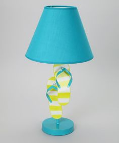 Look what I found on #zulily! Blue & Lime Green Flip-Flop Lamp by Dennis East International #zulilyfinds