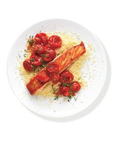 Salmon With Sautéed Tomatoes Recipe #MyPlate #protein #vegetables