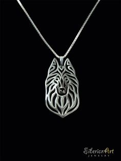 Belgian Groenendael - sterling silver pendant and necklace