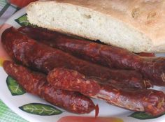 Chorizos con pimentón Island Food, Smoking Meat, Sausage Recipes, Charcuterie, Preserves, Grilling, The Cure, Bacon, Bbq