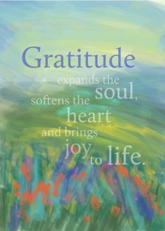 .my soul sings with gratitude for all i have.