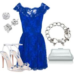 What a beautiful cobalt blue! Just the right amount of color pop in the shoes. Simple silver accessories. Now if I could only figure out where to wear it...