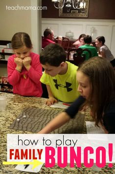 What a fun family night activity! My kids and I will have so much fun playing Family Bunco.