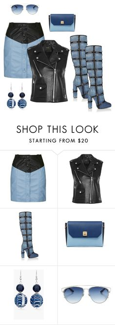 """""""Ladies night"""" by sidneilu ❤ liked on Polyvore featuring Topshop, Maje, Tom Ford, MCM, Chico's and Christian Dior"""