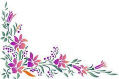 Resultado de imagen para guardas con flores y mariposas