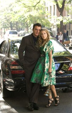 Chris Noth and Sarah Jessica Parker in Sex and the City (2004)