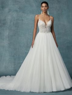 Benton Tulle Ballgown bridal gowns and designer wedding dresses 074642739826