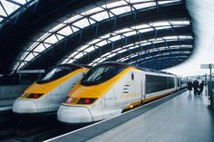 Trem-bala Eurostar - Estação Waterloo (Londres- Inglaterra) #trem #train