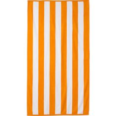 Cabana Stripe Beach Towel Color: Orange ($63) ❤ liked on Polyvore featuring home, bed & bath, bath, beach towels, dwellstudio, oversized beach towels and cabana stripe beach towels
