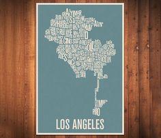 Los Angeles Typography Prints