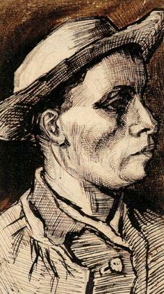"""Head of a Man"" Van Gogh, 1885"