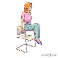 Bir sandalyeyi kullanarak evinizde göbeğinizden kurtulun | Mutluluk Köyüm