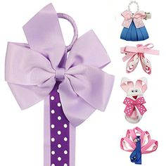 Wrapables Peacock Bunny Purse Ballet Shoes Ribbon Sculpture Hair Clips with Polka Dots Hair Clip  Hair Bow Holder Purple >>> Read more  at the image link. (This is an Amazon affiliate link and I receive a commission for the sales and I receive a commission for the sales)