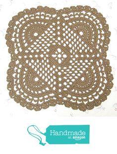 "Openwork Jute Rug - Mandala Pattern - Handmade Crochet Doily Rug- All Natural and Eco Friendly - 32"" from Exotiflora http://www.amazon.com/dp/B0187VE44Q/ref=hnd_sw_r_pi_dp_dC2twb1V8SA0E #handmadeatamazon"