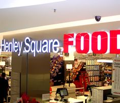 Illuminated signage and box lettering for Foodland Supermarket
