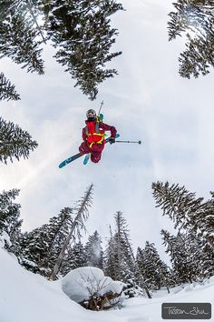 Awesome shot! #Freeskiing