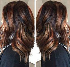 Ecaille hair base scura e riflessi rosso ramato