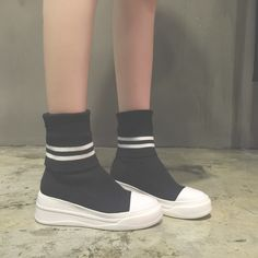 Todays Fashion Martin Boots on The Demon's Chest.Kpop Black Trendy Socks Type Martin Boots Casual Platform Shoes Dc537 is a must to make an amazing outfit. You can wear it in any occasion - school, office, dates, and parties.