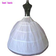 High Quality Wedding Dresses petticoat 2017 White 4 Hoop Tulle Plus Size Petticoat Wedding Gown Underskirt Accessories Crinoline